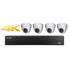 4 Channel DVR w/ (4) HD 4.0MP IP Cameras