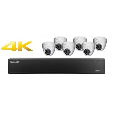 8 Channel DVR w/ (6) HD 4.0MP IP Cameras