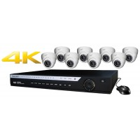 16 Channel DVR w/ (8) HD 4.0MP IP Cameras