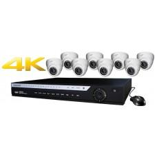 16 Channel DVR w/ (8) HD 4.0MP IP Cameras