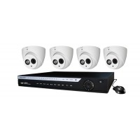 4 Channel DVR w/ (4) HD 4.0MP COAX Cameras