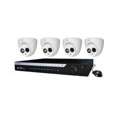 4 Channel DVR w/ (4) HD 4.0MP COAX Cameras
